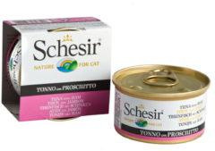 Schesir Kat Blik Gelei Vis 85 g - Kattenvoer - Tonijn&Ham - Kattenvoer
