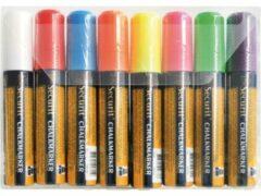 Securit krijtmarker large, etui van 8 stuks in geassorteerde kleuren