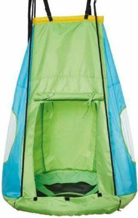 Afbeelding van Happy People schommeltent voor nestschommel 90 cm groen/blauw