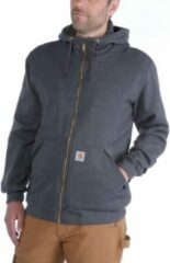 Grijze Carhartt Sherpa-Lined Midweight Full-Zip Sweatshirt Carbon Heather Heren