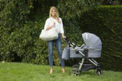 P'tit Chou - Verona Jeans Blauw - kinderwagen met autostoel-gratis accessoires