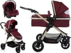 Rode Baninni 3-in-1 Kinderwagen Ayo Misty Red BNST011-RD