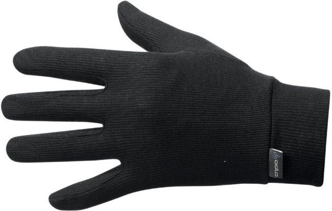 Afbeelding van Zwarte Odlo Gloves Originals Warm Unisex Sporthandschoenen - Black - Maat XS
