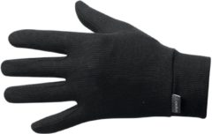Zwarte Odlo Gloves Originals Warm Unisex Sporthandschoenen - Black - Maat XS
