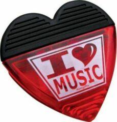 AIM Clip hartvormig, I Love Music