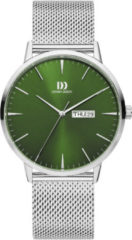 Danish Design watches edelstalen herenhorloge Akilia Day/Date groen Mesh IQ77Q1267