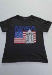 Grijze Nasa Unisex T-shirt. Maat 146 cm / 11 jaar
