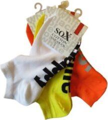 Oranje Merkloos / Sans marque Sneakersokken dames - prijs per 3 paar