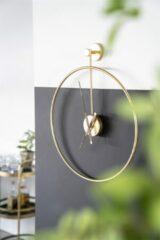 By-Boo Wandklok 'Sundial' 70cm, kleur Goud