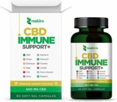 Reakiro Immune Support + 600 mg Full Spectrum CBD olie - 60 gel capsules