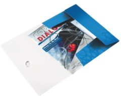 Leitz 3-klepsmap WOW A4 Blauw metallic 8 mm Ideaal voor A4-vellen zichtmappen en Leitz CombiFiles