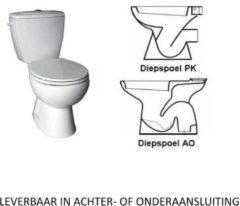 Almera Compleet Toledo Duoblok Staande Toilet Van Keramiek (Ao Of Pk)