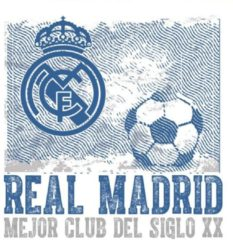 Real Madrid CF Real Madrid Muursticker Logo Vintage 2 Stickervellen