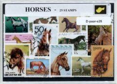 Transparante KLOMP G.T.P Paarden - postzegelpakket cadeau met 25 verschillende postzegels