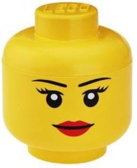 Room Copenhagen LEGO Storage Head Girl, Klein Geel
