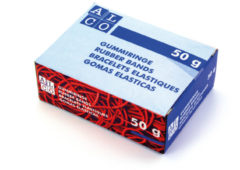 Elastieken Alco 65mm assorti - kartonnen doosje a 50 gram