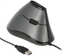 Grijze DeLOCK 12527 muis USB Type-A Optisch 800 DPI Rechtshandig