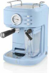 Swan One Touch Espressomachine – Gemalen Koffie & Koffiepads – Blauw