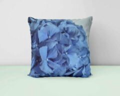 ByCristianne Sierkussen - Blauw - Hortensia - Woon accessoire - 50 x 50 cm