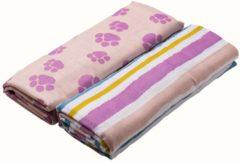 Roze Briljant Baby Jungle Dusk Hydrofiel Swaddle Inbakerdoek - 120x120 cm - 2 Stuks - Pink