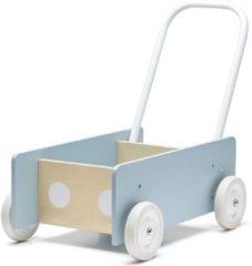 Lichtblauwe Kids Concept Houten Loopwagen Blauw | Kid's Concept