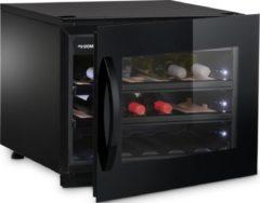 Zwarte Dometic Elegance Dometic E18FGB - Wijnkoelkast - 18 flessen - 1 Temperatuurzone
