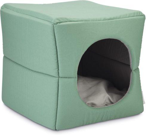 Afbeelding van Beeztees Boxi - Kattenhuis - Groen/Grijs - 37 x 33 x 33 cm
