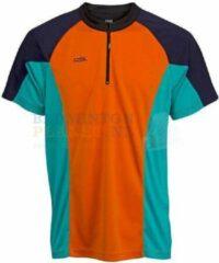 RSL T-shirt Badminton Tennis Oranje/Blauw maat S