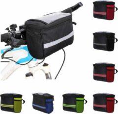 BikerVibes | Fiets Stuurtas met Smartphonehouder | Zwart/groen