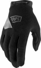 Zwarte 100% Ridecamp kids gloves black MTB / BMX handschoenen - Maat:L