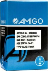 Zwarte AMIGO Binnenband 26 x 2 x 1 3/4 (54 571) FV 48 mm