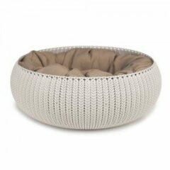 Creme witte Curver Cozy Pet Bed - Crème - Kattenmand - Ø 50 cm