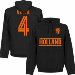 Retake Nederlands Elftal Virgil Team Hoodie - Zwart - L