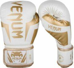 Venum Elite (Kick)Bokshandschoenen Wit Goud 12oz