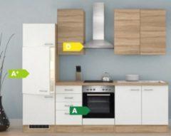 Flex-Well Küchenzeile G-270-2210 + Haube 6091 Samoa 270 cm
