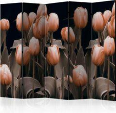 Oranje Kamerscherm - Scheidingswand - Vouwscherm - Ladies among the flowers II [Room Dividers] 225x172 - Artgeist Vouwscherm
