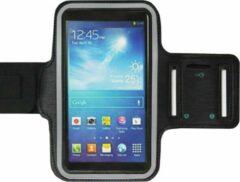 ADEL Sportarmband 6.3 Inch Microfiber Hoesje voor Motorola G6 Plus - Zwart