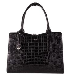 "Zwarte Socha Businessbag Croco 14-15.6"" Crocodile Jet Black"