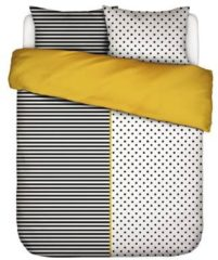 Zwarte Covers En Co Covers & Co Double Trouble Dekbedovertrek - 2-persoons (200x200/220 Cm + 2 Slopen) - Percal Katoen - Black