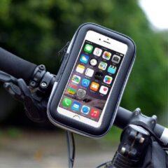 Zwarte Waterdichte Fiets Smartphone houder – Fiets Houder Telefoon – Fiets stuur tas – 4.7 inch - Geschikt voor o.a. iPhone 7, 6S, 6 / Samsung Galaxy S7 – Maat M