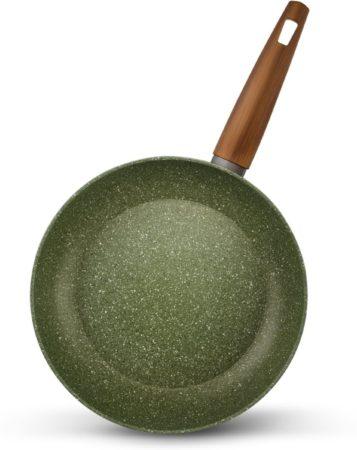 Afbeelding van TVS Natura Natura 100% Recycled - Koekenpan Ø 24 cm - met groene plantaardige VEGAN anti-kleefcoating - ook geschikt voor inductie