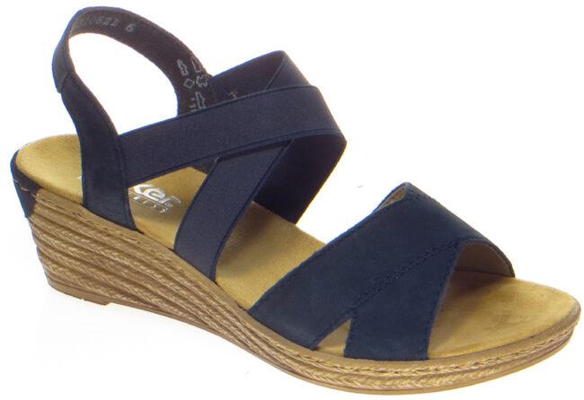 Afbeelding van Blauwe Rieker Sandalen/Sandaaltjes