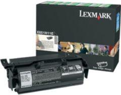 LEXMARK X651, X652, X654, X656, X658, tonercartridge zwart high capacity 25.000 paginas 1-pack return program