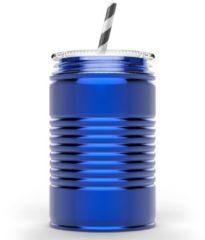 Blauwe Asobu - Mason Jar I can - 540 ml - Blauw