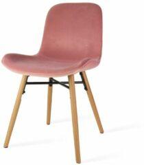 Roze Nolon Nena eetkamerstoel - velvet zitting dusty pink