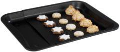 Zwarte Zenker deluxe Bakplaat voor in de oven - uitschuifbaar - Universeel 33 cm x 36,5-52cm - Teflon Anti aanbaklaag - Universele