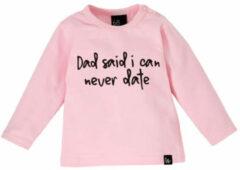 Dad said i can never date longsleeve shirt 74 Roze/Zwart