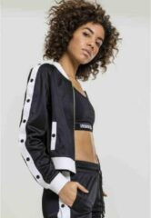 Urban Classics Trainings jacket -XS- Button Up Zwart/Wit
