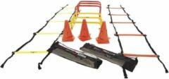 Zwarte Precision Trainingsset Speed Nylon Geel/oranje 20-delig