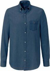 Donkerblauwe Gant 3040520 Casual overhemd met lange mouwen - Maat M - Heren